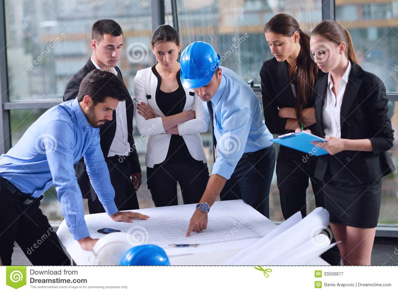 12 Engineers In Meeting Stock Photography Images