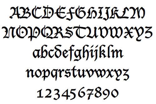 Old Time English Font