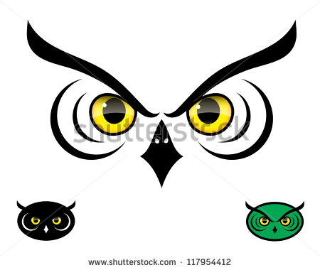 10 Owl Head Vector Images