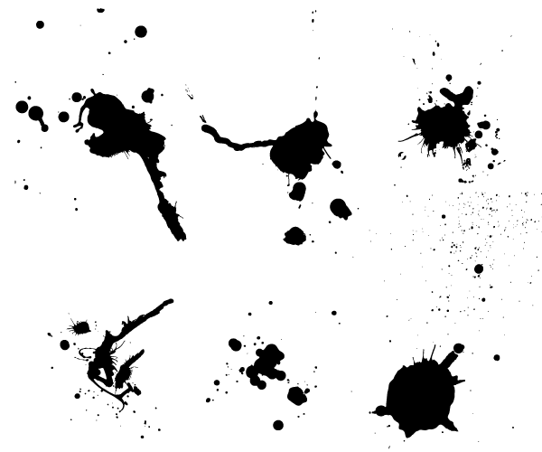19 Paint Splash Vector Images