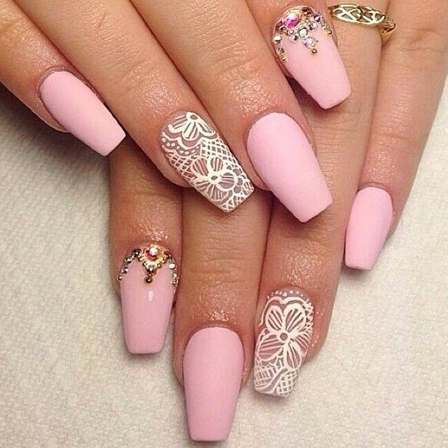 15 Matte Pink Nail Designs Images
