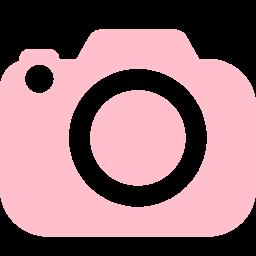 Pink Camera Icon Clip Art