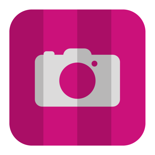Pink Camera Icon Flat