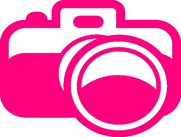 Pink Cartoon Camera Clip Art