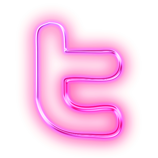 Pink Facebook and Twitter Logos