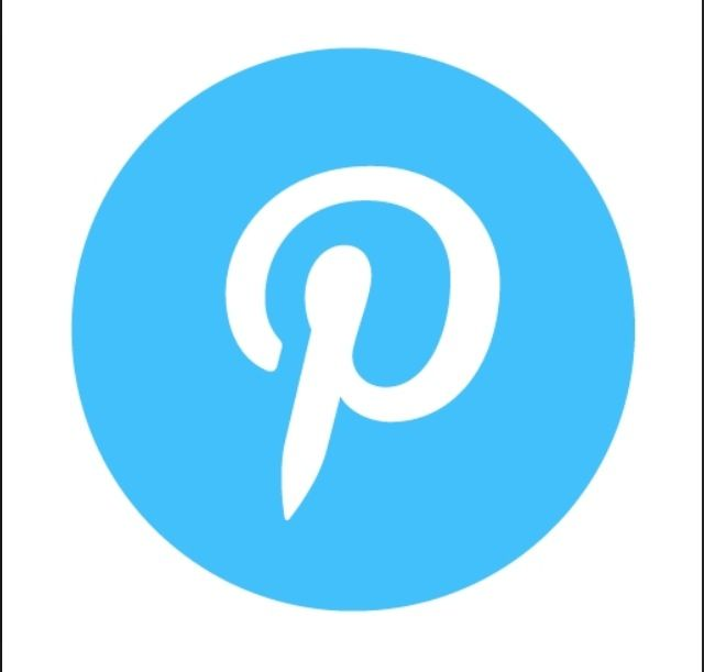 17 Pinterest Icon Blue Images