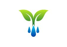 Plants and Water Symbol