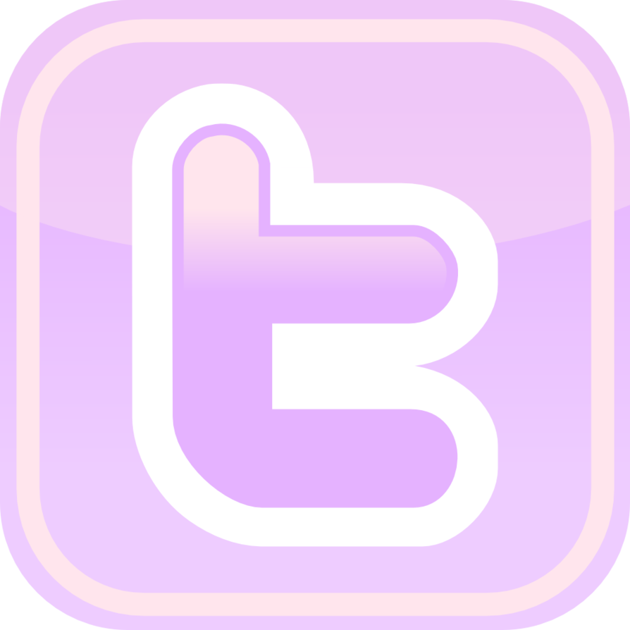 Purple Facebook Twitter Icons