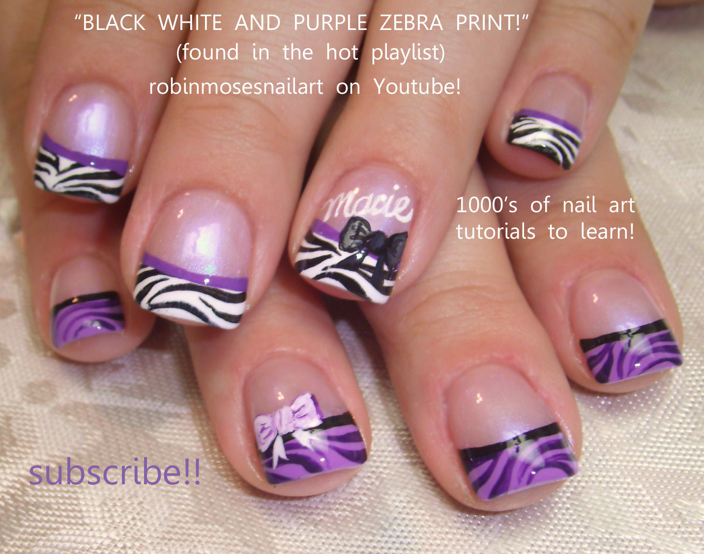 12 Purple Zebra Nail Designs Images