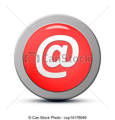 Red Email Icon Clip Art