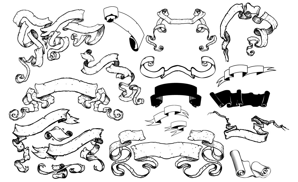 Scroll Banner Vector Designs