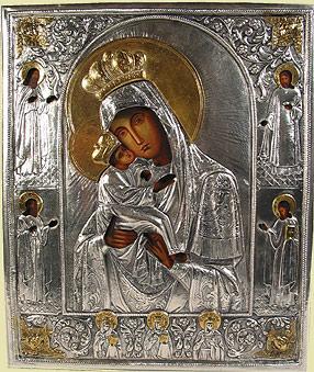Silver Religious Icons Orthodox