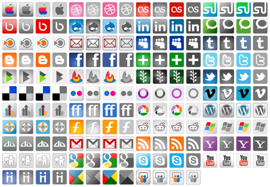 12 Social Logo Photoshop Images