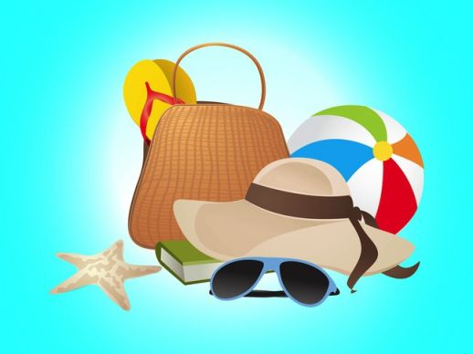 12 Summer Vacation Vector Images