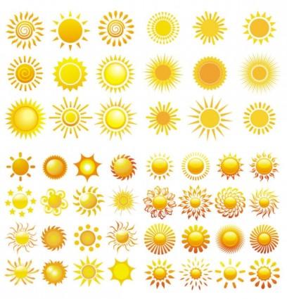 10 Sun Vector PSD Images