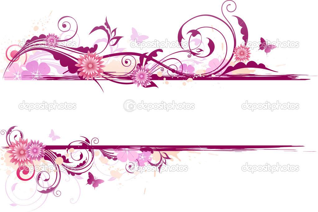 Transparent Floral Banner