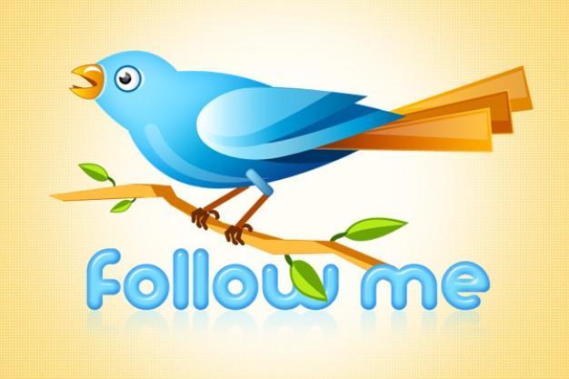 10 Twitter Bird Logo PSD Images