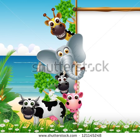 Tropical Beach Animals Cartoons