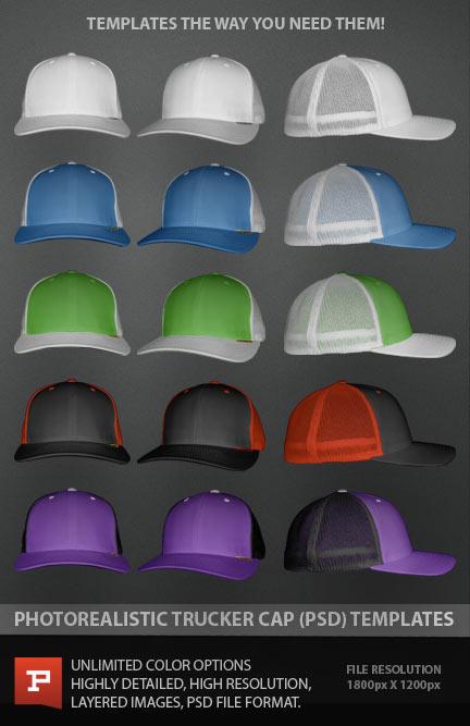 Trucker Hat Template PSD