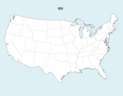 Us map outline eps