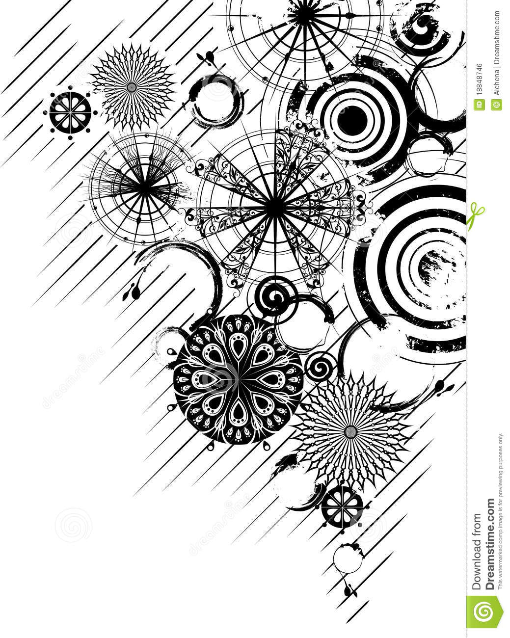 Vector Circle S Black and White