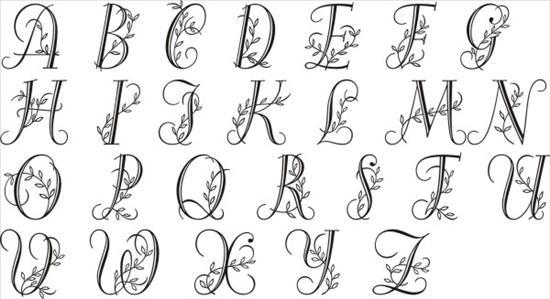 Vine Font Monogram Letters