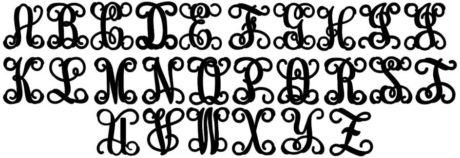 17 Thick Vine Monogram Font Designs Images
