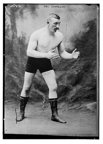 Vintage Boxer with Mustache