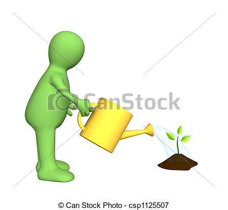 Watering Plants Illustration