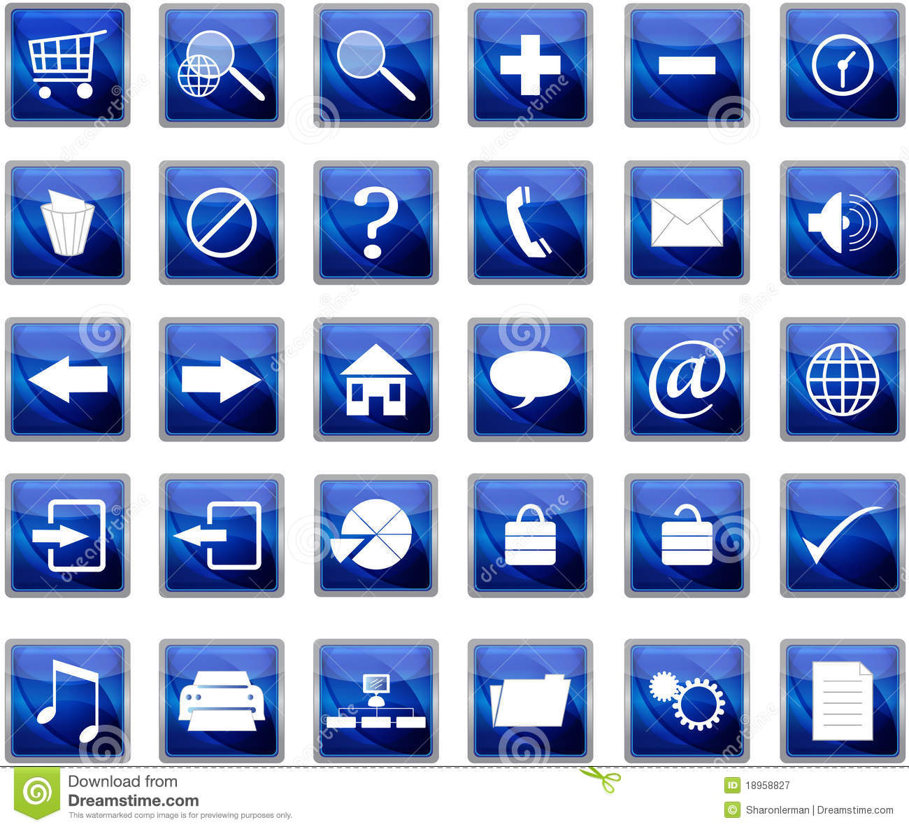7 Website Navigation Icon Set Images