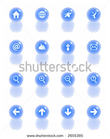 Web Navigation Icon Sets Blue