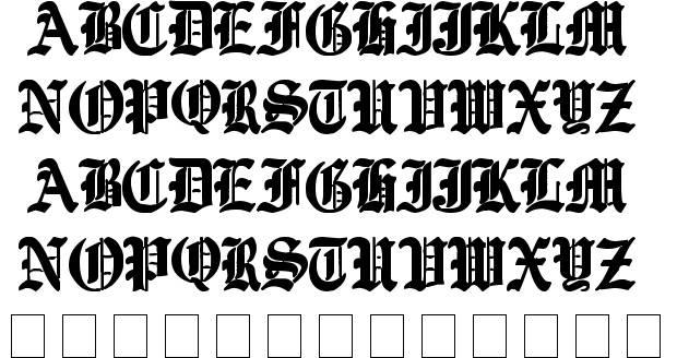 Ye Old English Font