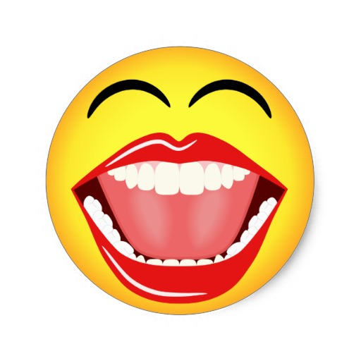 Yellow Smiley Face Laughing