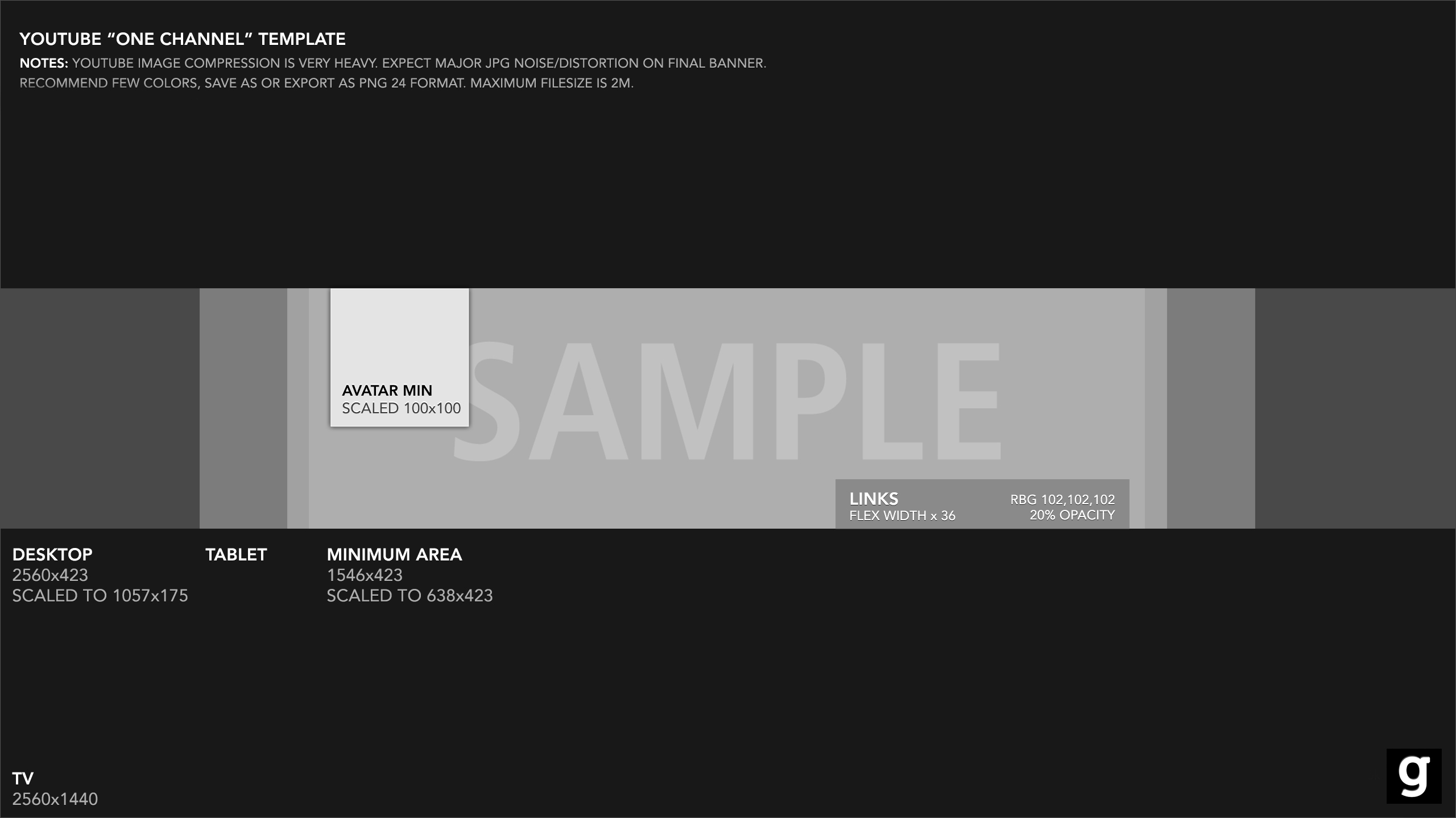 YouTube Banner Template 2015