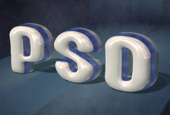 3D Text Effect Photoshop CS5