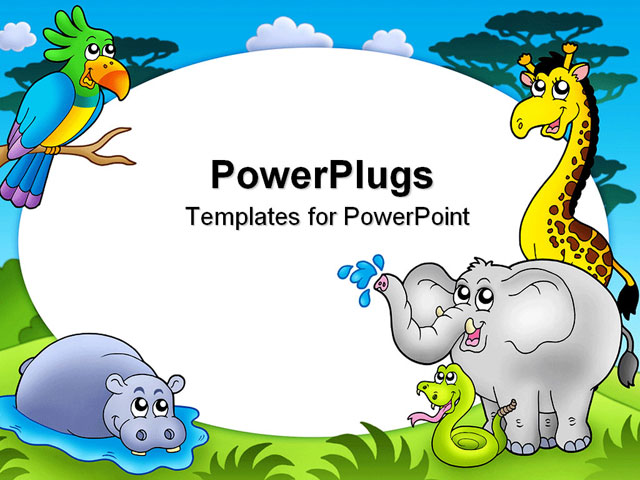 15 African Animals Powerpoint Templates Images African