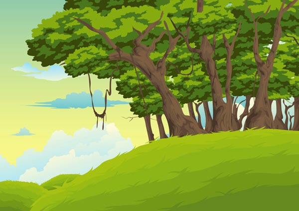 19 Vector Jungle Landscape Images