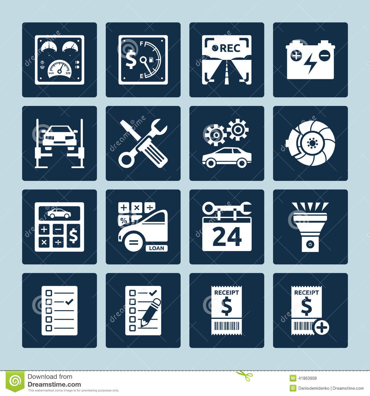 Auto Repair Services Icons