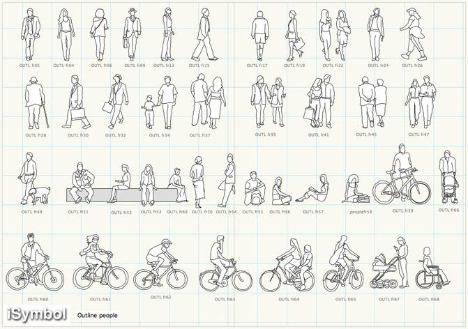 AutoCAD People Outline