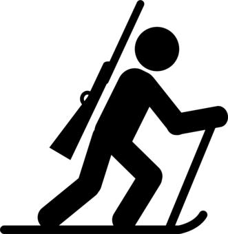 6 Biathlon Skiing Icon Images