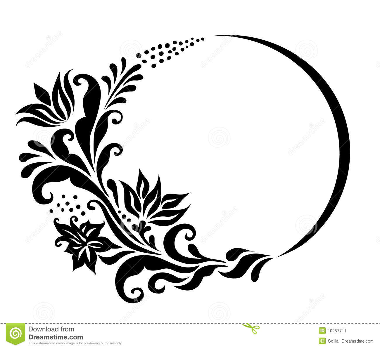 15 Black And White Floral Border Vector Free Images ...