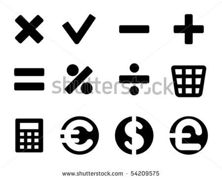 15 Vector Math Symbols Images - Math Symbols Vector ...
