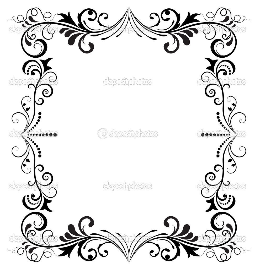 19 Black And White Vector Frame Images Black Frame Borders Designs