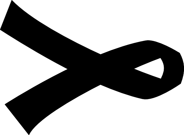 Black Cancer Ribbon Clip Art