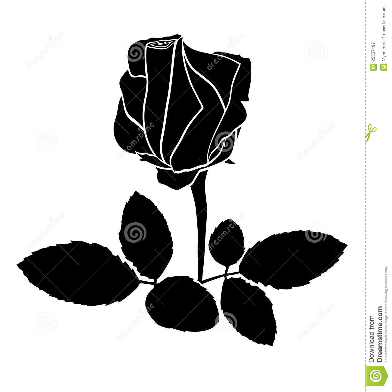 14 Black Rose Vector Images - Vector Clip Art Black and ...