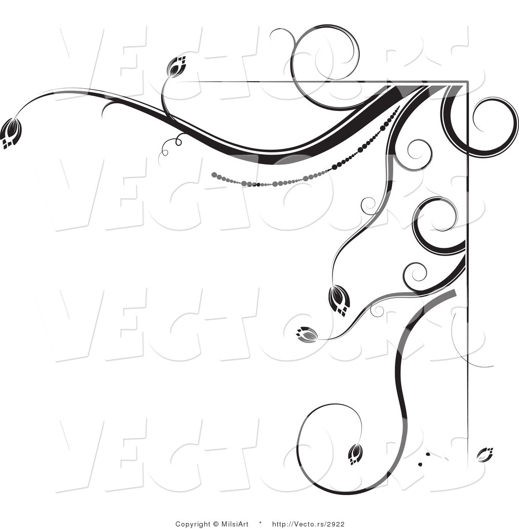 15 black and white floral border vector free images black and black white floral corner border mightylinksfo Image collections