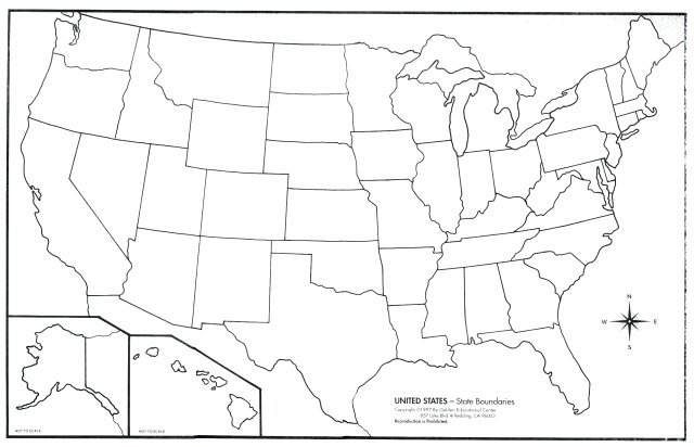 Geography Blog Outline Maps United States Printable Us Map - Printable blank map of us