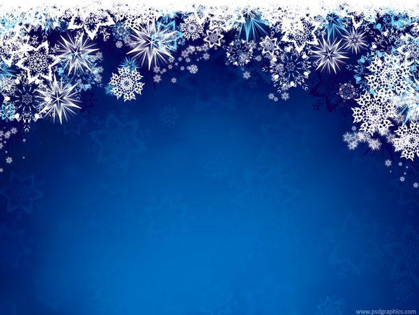 Blue Background with Snow Flakes