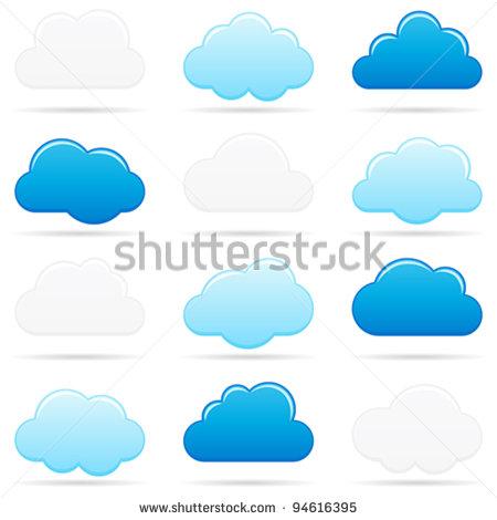 Blue Cloud Clip Art