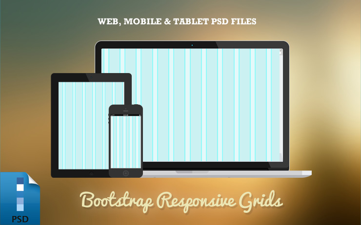 Bootstrap PSD Grid Template